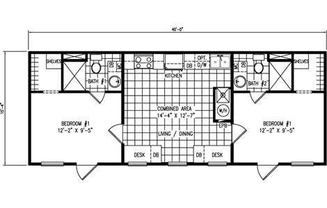 24x40 house plans 2 bedroom popular house plans and for 14 x 60 mobile home floor plan