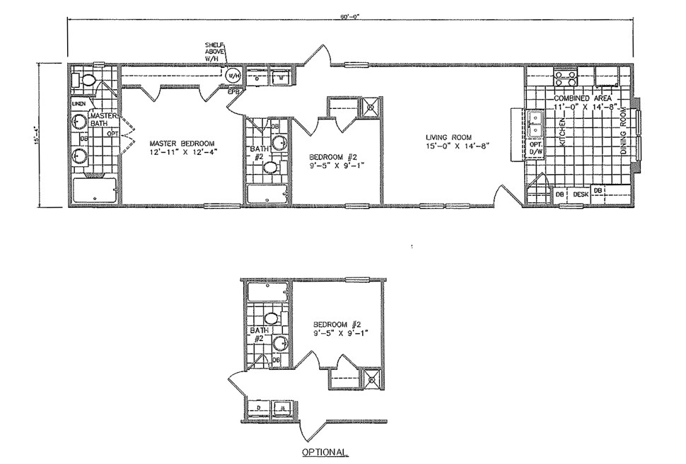 Single-wide Bally's Floorplan