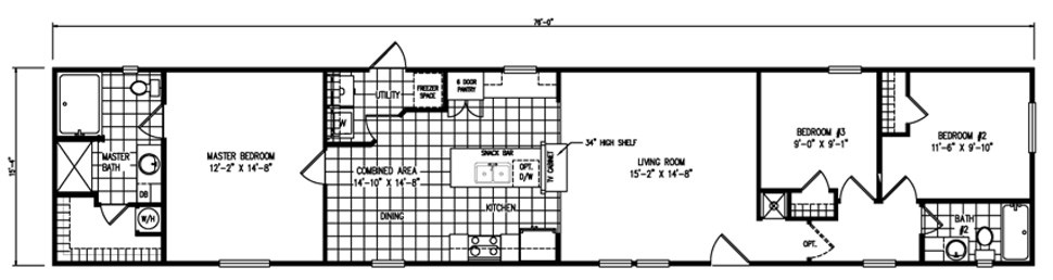 Single-wide The California Floorplan