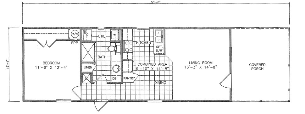 Single-wide The Gold Spike Floorplan