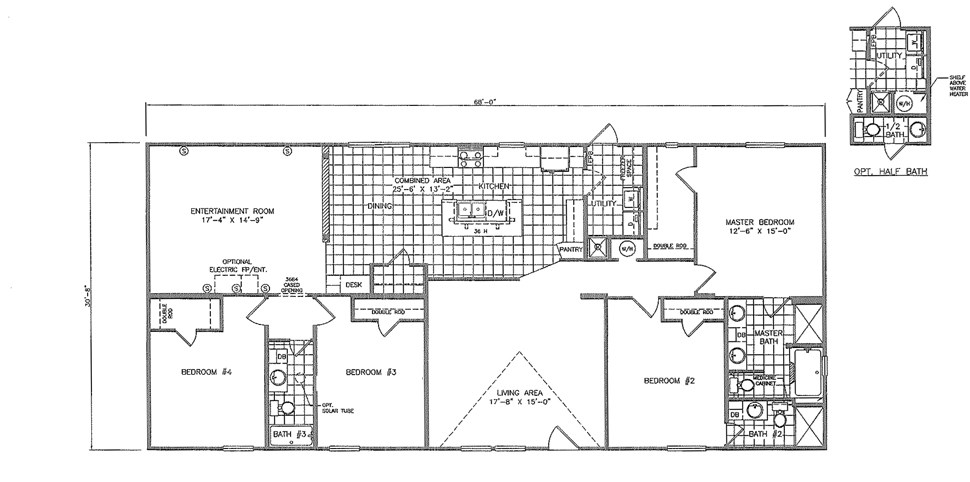 Double-wide The Mardi Gras Floorplan