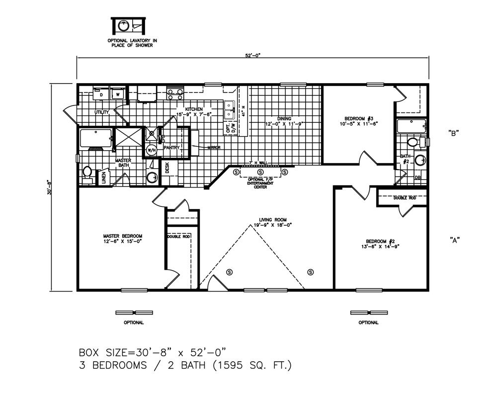 Double-wide The Monte Carlo Floorplan