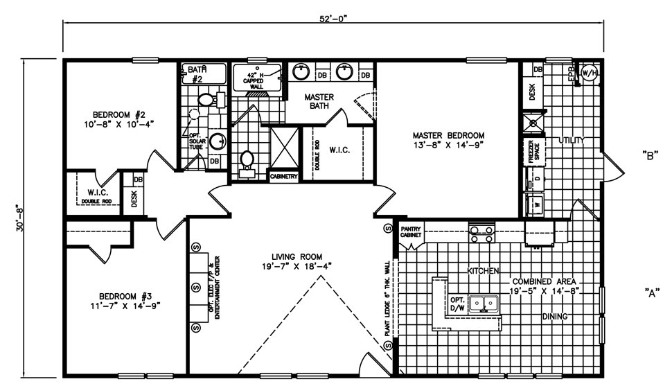 Double-wide The Riviera Floorplan