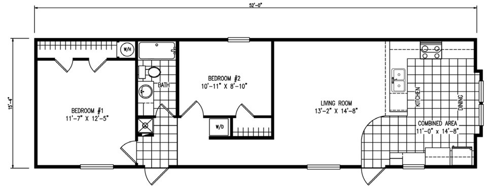 Single-wide The Tuscany Floorplan