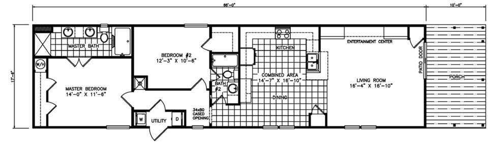 Single-wide The Venetian Floorplan