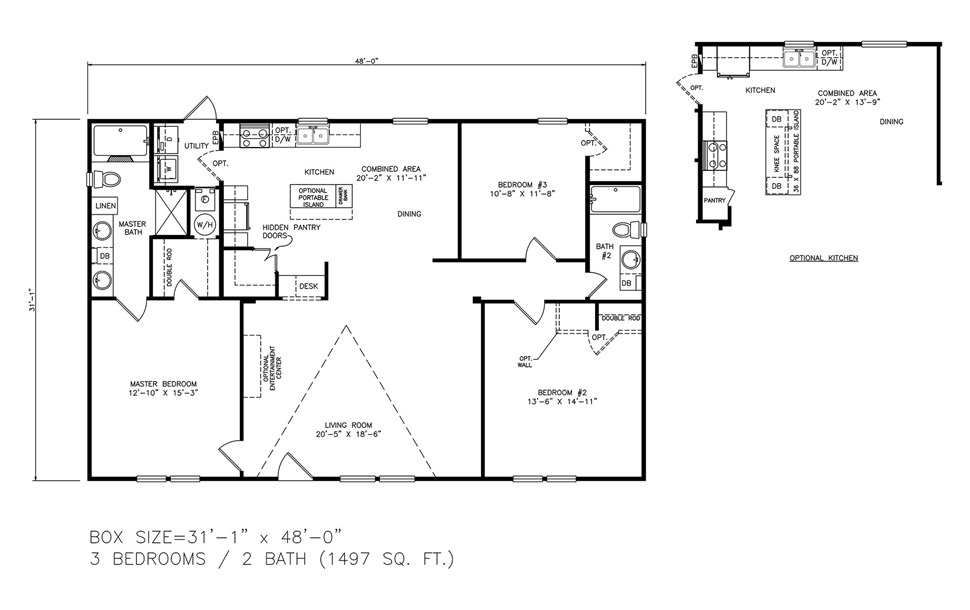 Double-wide The Paradise Floorplan