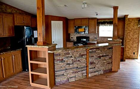Mi casa homes the luxor manufactured home floorplans for Single wide mobile home kitchen ideas